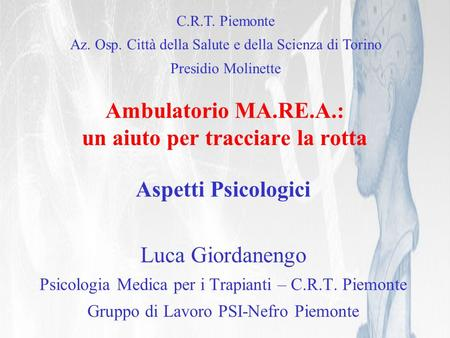 Ambulatorio MA.RE.A.: un aiuto per tracciare la rotta