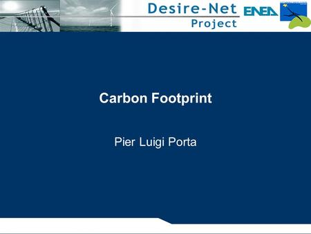 Carbon Footprint Pier Luigi Porta.