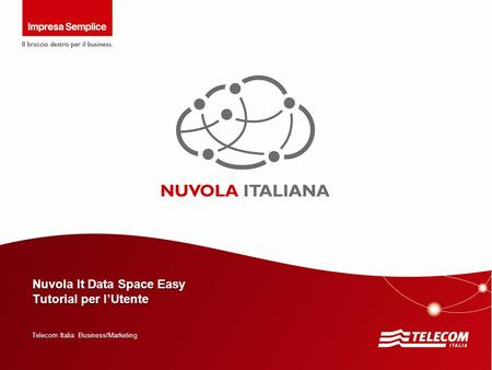 Nuvola It Data Space Easy Tutorial per l'Utente