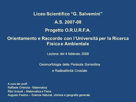 "Liceo Scientifico ""G. Salvemini"""