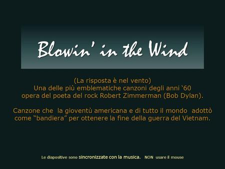 Blowin' in the Wind (La risposta è nel vento)
