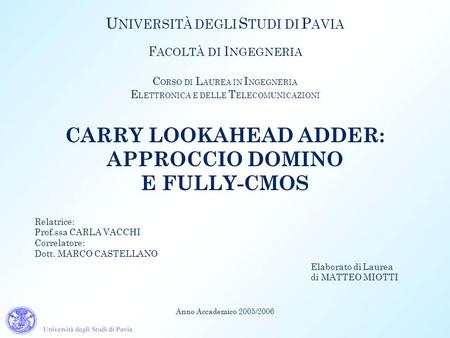 CARRY LOOKAHEAD ADDER: