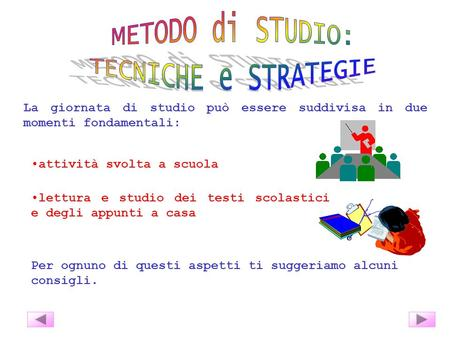 METODO di STUDIO: TECNICHE e STRATEGIE
