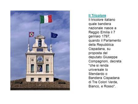 La storia del tricolore ppt scaricare for Parlamento della repubblica italiana
