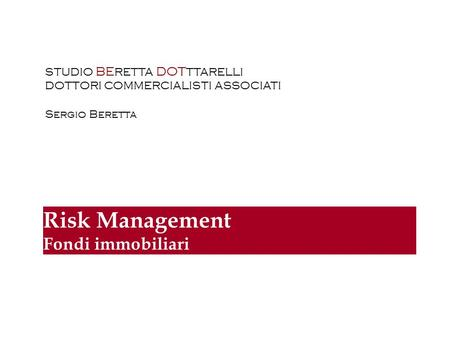 is Management Fondi immobiliari