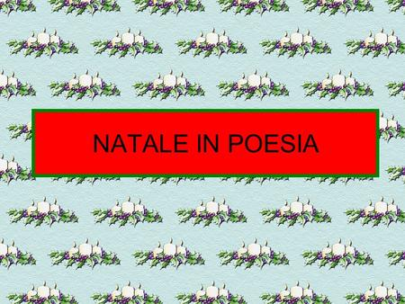 NATALE IN POESIA.