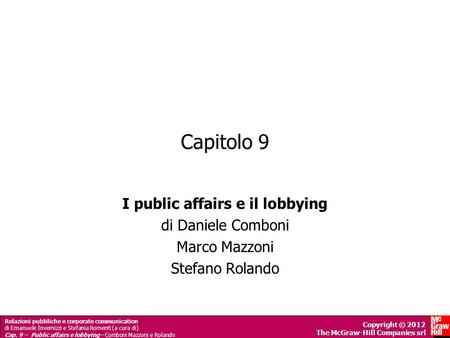 I public affairs e il lobbying