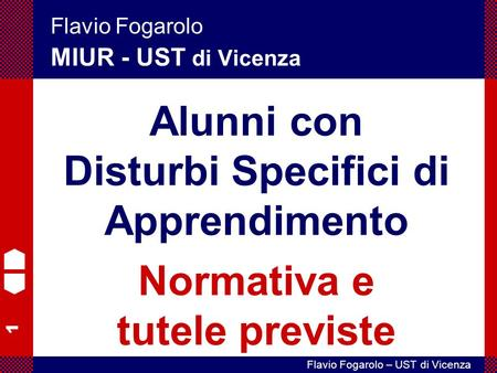 Alunni con Disturbi Specifici di Apprendimento