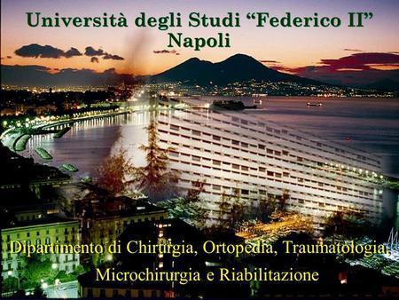 Direttore prof alberto maleci cattedra di neurochirurgia for Studi di architettura napoli