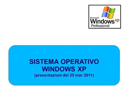 SISTEMA OPERATIVO WINDOWS XP (presentazioni del 25 mar 2011)