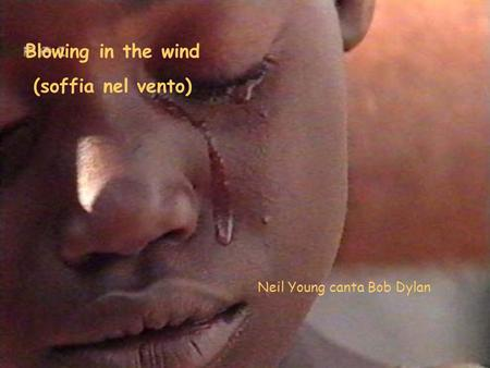 Blowing in the wind (soffia nel vento) Neil Young canta Bob Dylan.