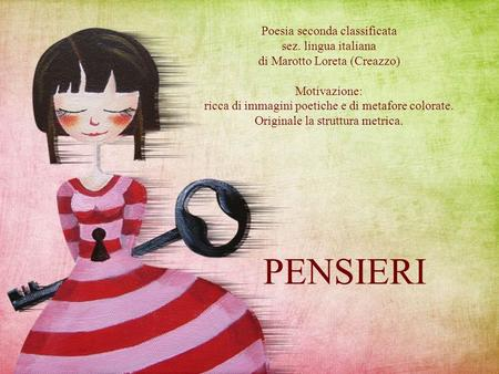 PENSIERI Poesia seconda classificata sez. lingua italiana