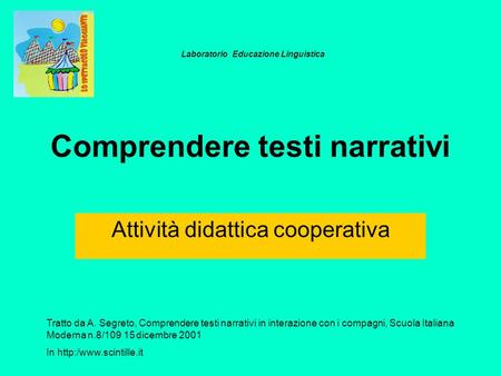 Comprendere testi narrativi