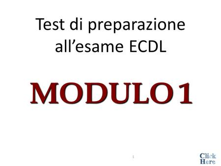 Test di preparazione all'esame ECDL MODULO 1 1 Il termine ROM indica:  Random Optical Memory  Read Only Memory  Random Only Memory  Read Optical.