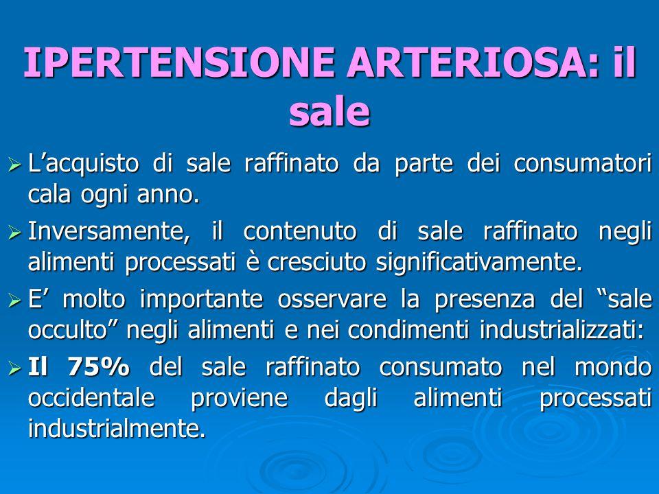  In alcune zone del mondo a ridotto consumo di sale, l'ipertensione è rara e non aumenta con l'età, diversamente da ciò che avviene nel mondo civilizzato.