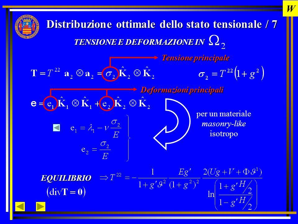 Distribuzione ottimale dello stato tensionale / 8 Energia Complementare Si ricerca il minimo del funzionale energia complementare tra tutte le funzioni che soddisfano le condizioni al contorno Equazione di Eulero associata al problema di minimo È un'equazione differenziale ordinaria del 2° ordine, altamente non lineare, risolvibile con metodo di shooting .