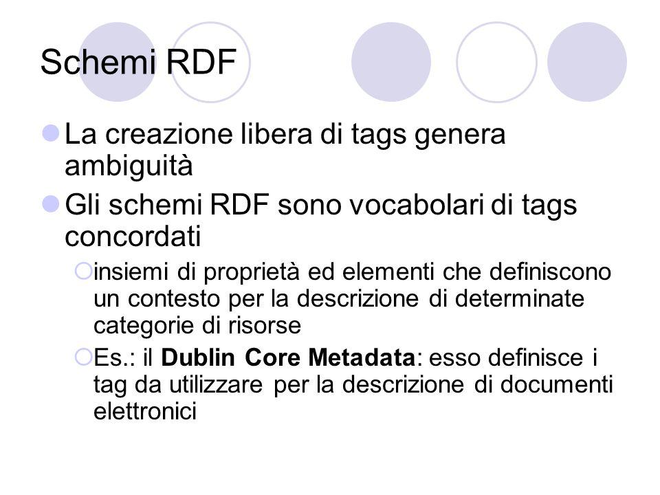 Sviluppi L'uso di RDF è agli inizi e non sono ancora apprezzabili gli effetti che questa tecnologia porterà sul Web.