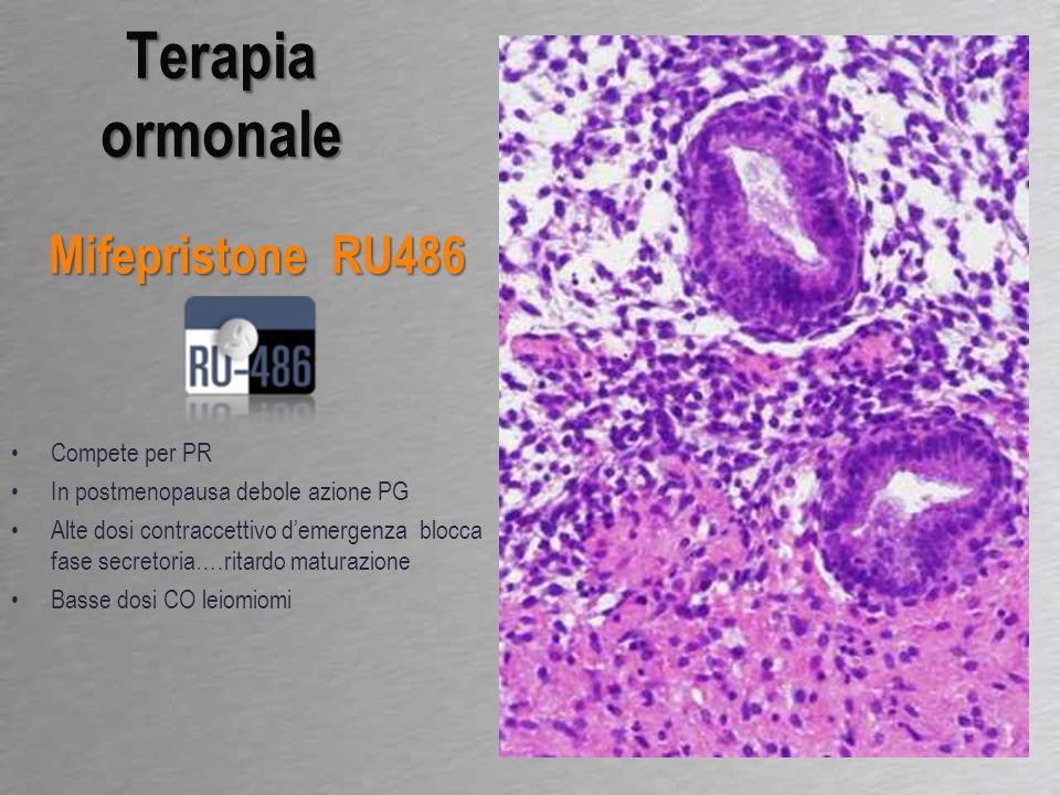 E/P combinati inattivo/atrofico Pattern francamente proliferativo suggerisce dosaggio P inadeguato Terapia ormonale HRT Impiegata a breve termine per sintomi relati a menopausa Varie formulazioni: E/P ciclici E/P combinati E/P ciclici generalmente asincronia stroma/ghiandole, opp atrofia