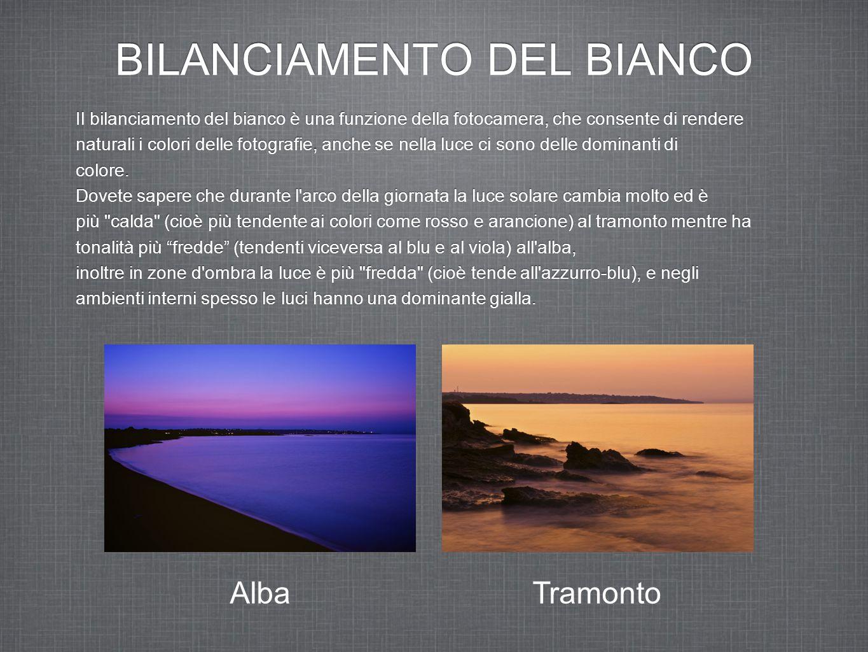 BILANCIAMENTO DEL BIANCO Le fotocamere interpretano i colori in modo differente da come vengono interpretati dall occhio umano.