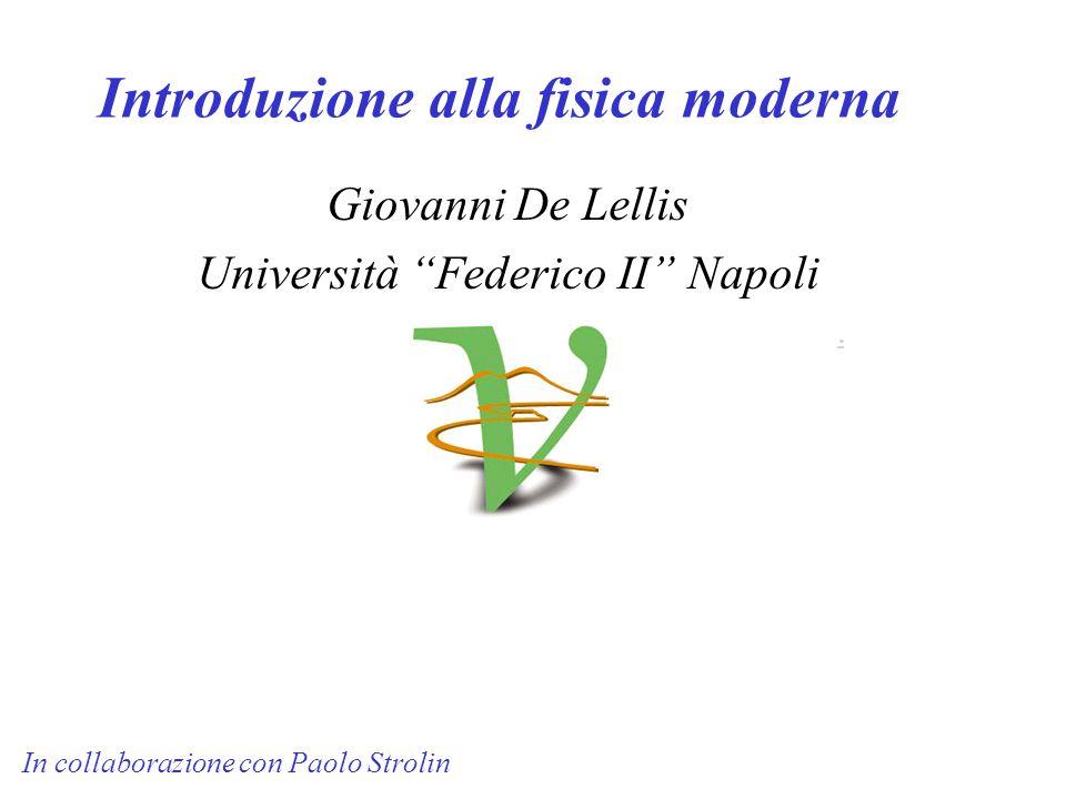 Introduzione alla fisica moderna Giovanni De Lellis Università Federico II Napoli.