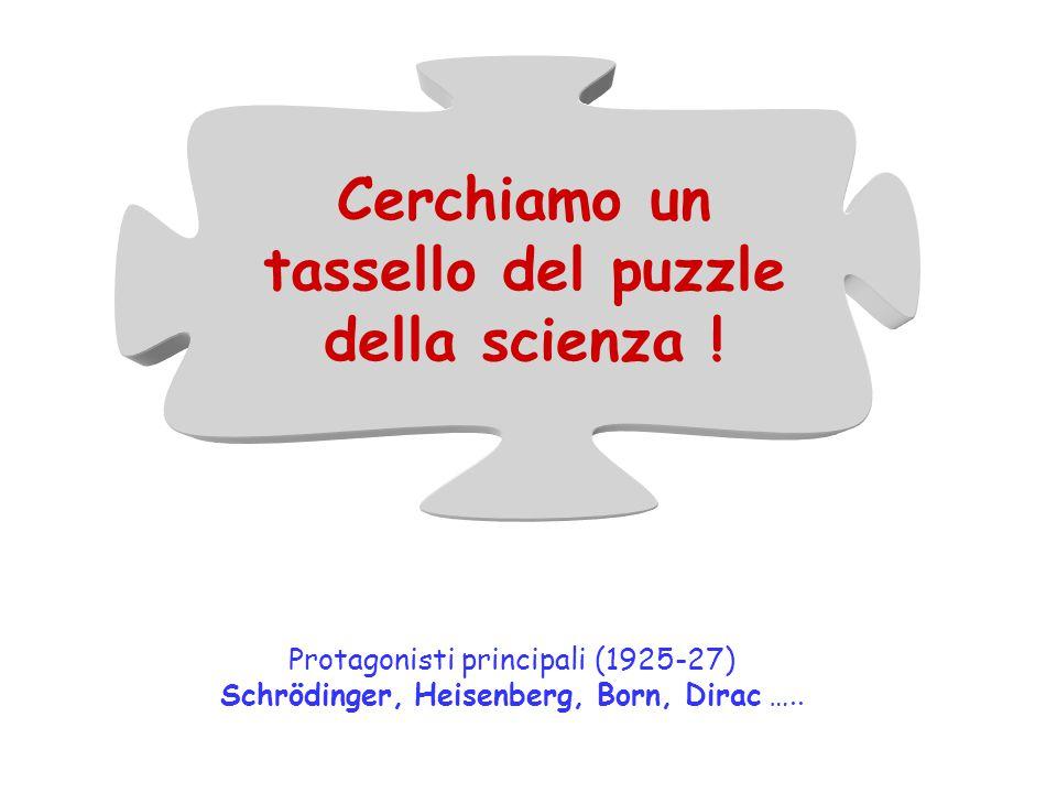 Cerchiamo un tassello del puzzle della scienza .