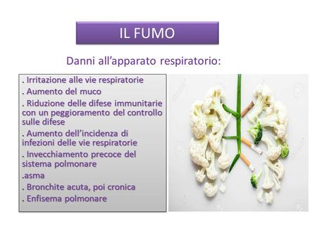 Danni all'apparato respiratorio: