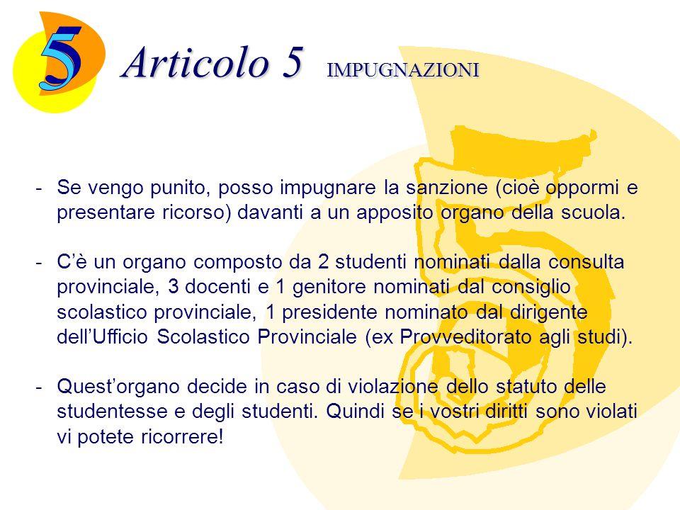 Articolo 6 DISPOSIZIONI FINALI -Ogni scuola adotta il suo regolamento sentendo il parere di genitori e studenti -Una copia dello statuto, del regolamento della scuola è data a ogni studente quando si iscrive -È abrogato il Regio Decreto 4 maggio 1925, n.