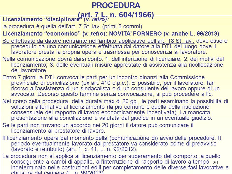 27 Impugnazione e rito del licenziamento