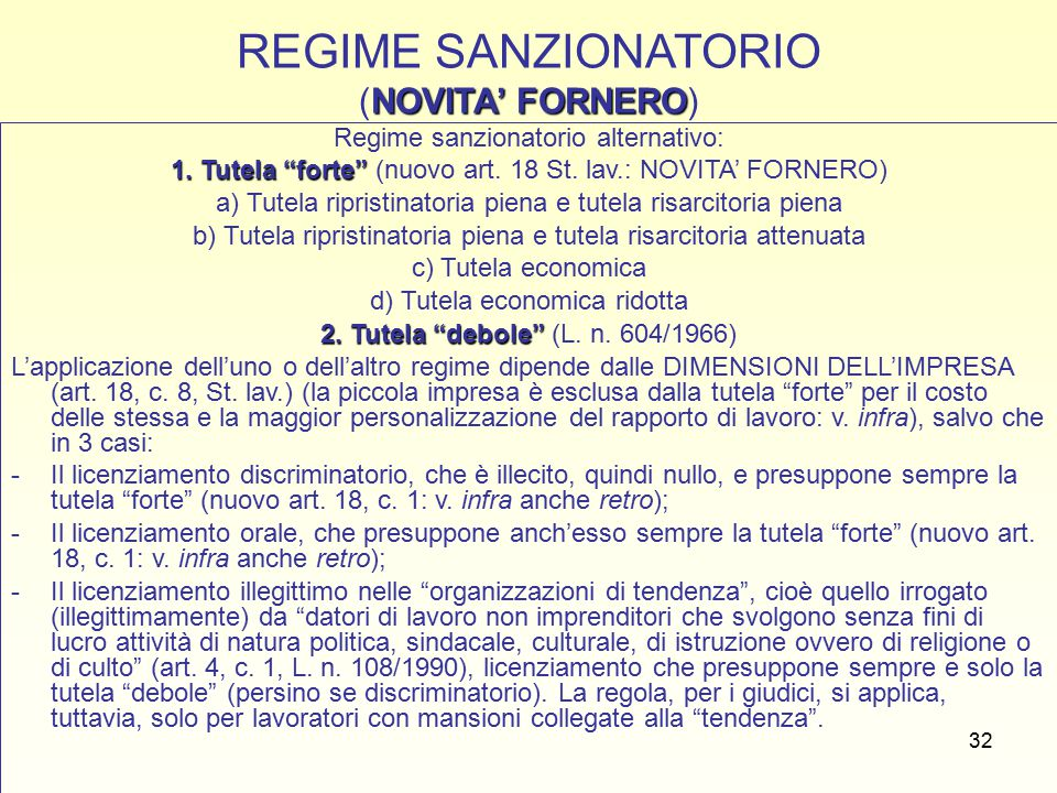 33 CAMPO DI APPLICAZIONE DEI DIVERSI REGIMI SANZIONATORI: IL LIMITE DIMENSIONALE (art.
