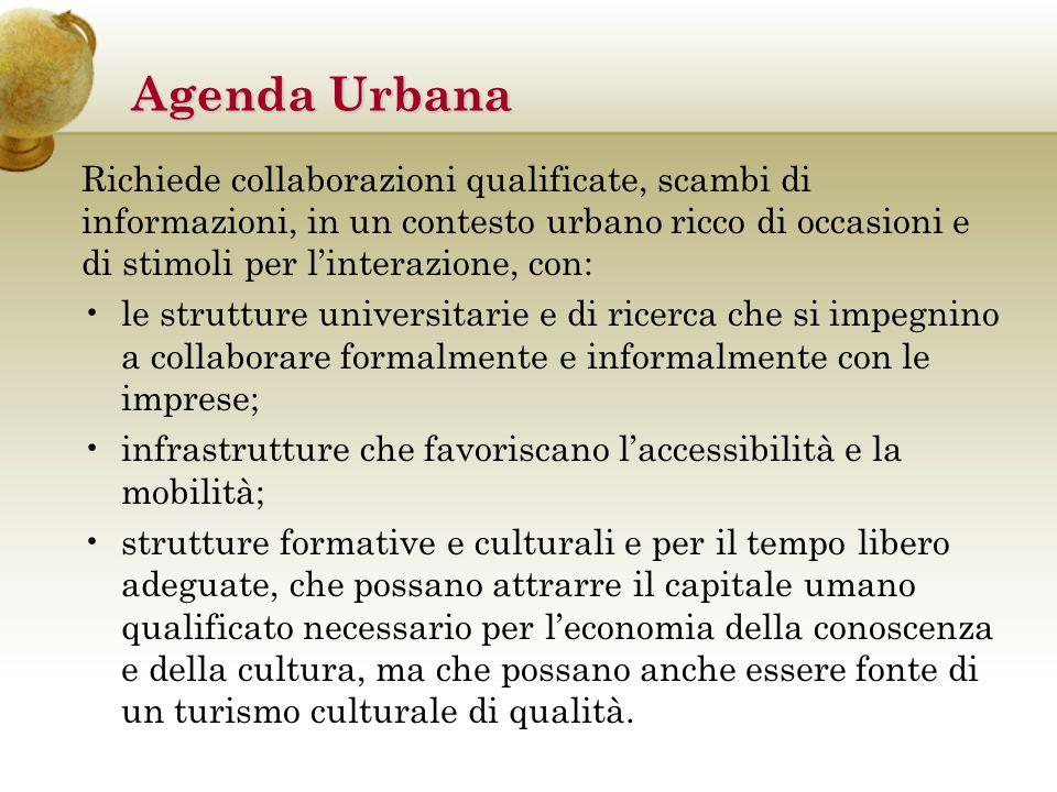 Su queste basi sono stati individuati i cardini della strategia comune dell'Agenda urbana, che si articola in tre driver di sviluppo – ovvero ambiti tematici di intervento prioritari in parte fra loro integrabili – comuni a tutte le regioni.