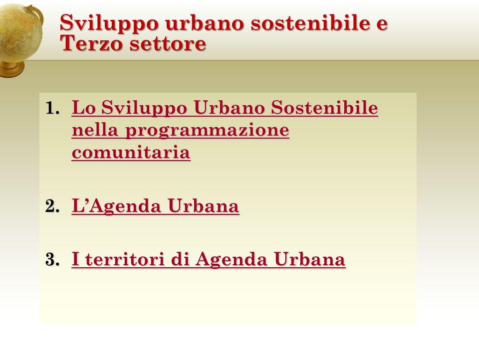 Lo Sviluppo Urbano Sostenibile nella programmazione comunitaria