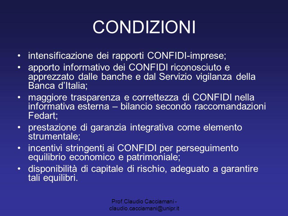 Prof.Claudio Cacciamani - claudio.cacciamani@unipr.it CONDIZIONI Aggregazione Ripensamento architettura organizzativa SALTO DI QUALITA' Ramificato sul territorio (capillare) Dimensione regionale (coordinamento) 2 livelli di presenza