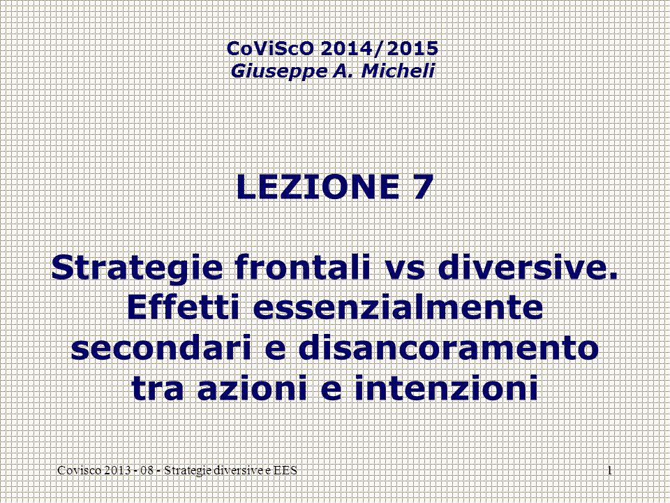 Covisco 2013 - 08 - Strategie diversive2 QUESTIONE NUMERO 1 [1] In che modo il meccanismo logico-affettivo della disconferma diverge da quello del rafforzamento identitario?