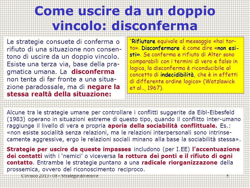 Covisco 2013 - 08 - Strategie diversive6 'Perdita dell'innocenza' e slittamento nei registri letterari C'è un'altra differenza cruciale tra dissonanze e paradossi (Ciompi).