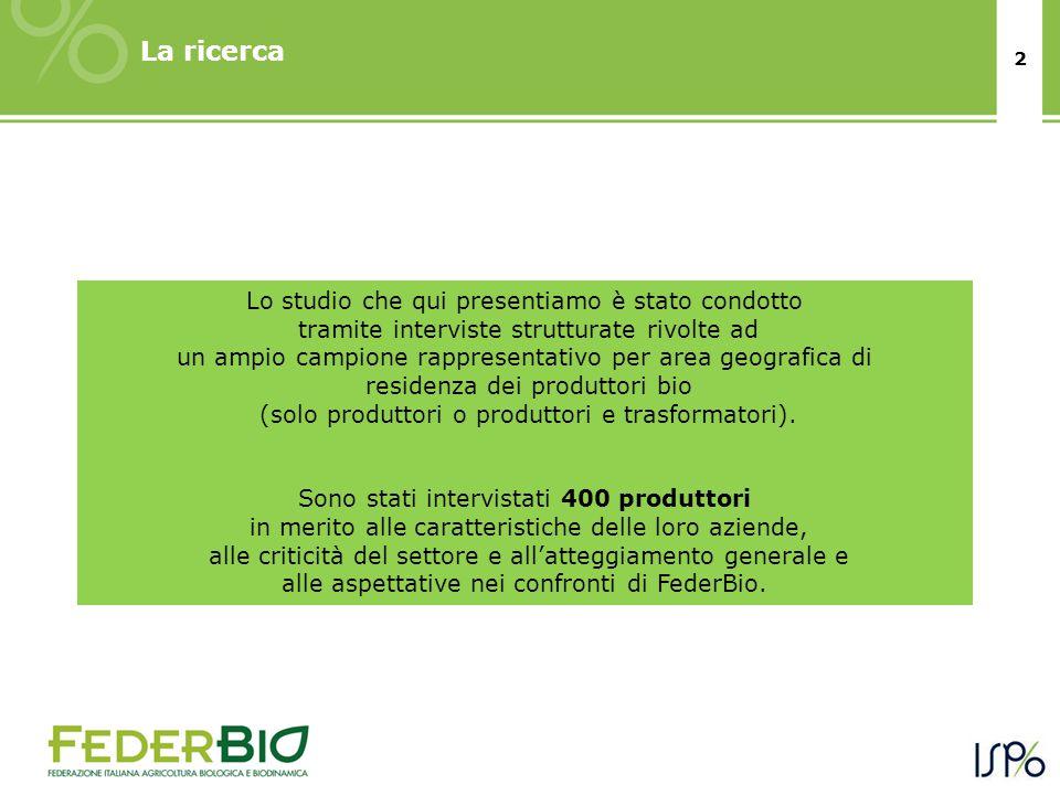 3 Il mondo dei produttori bio