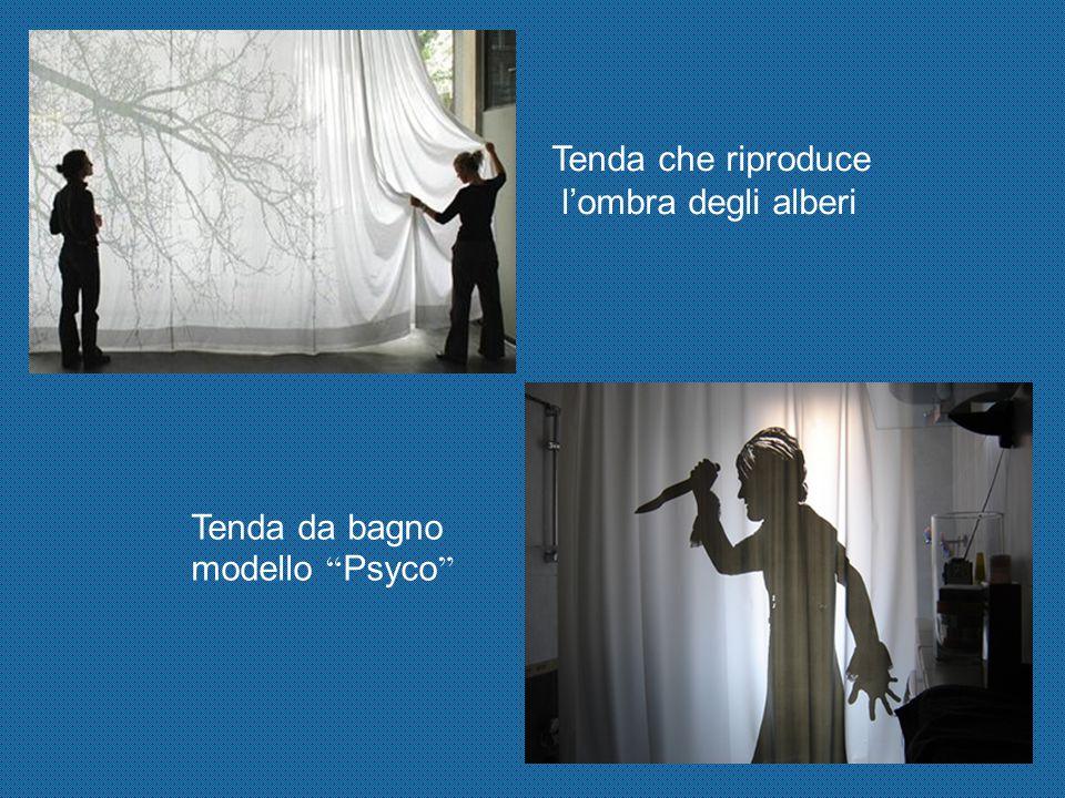 Tenda che riproduce l'ombra degli alberi Tenda da bagno modello Psyco