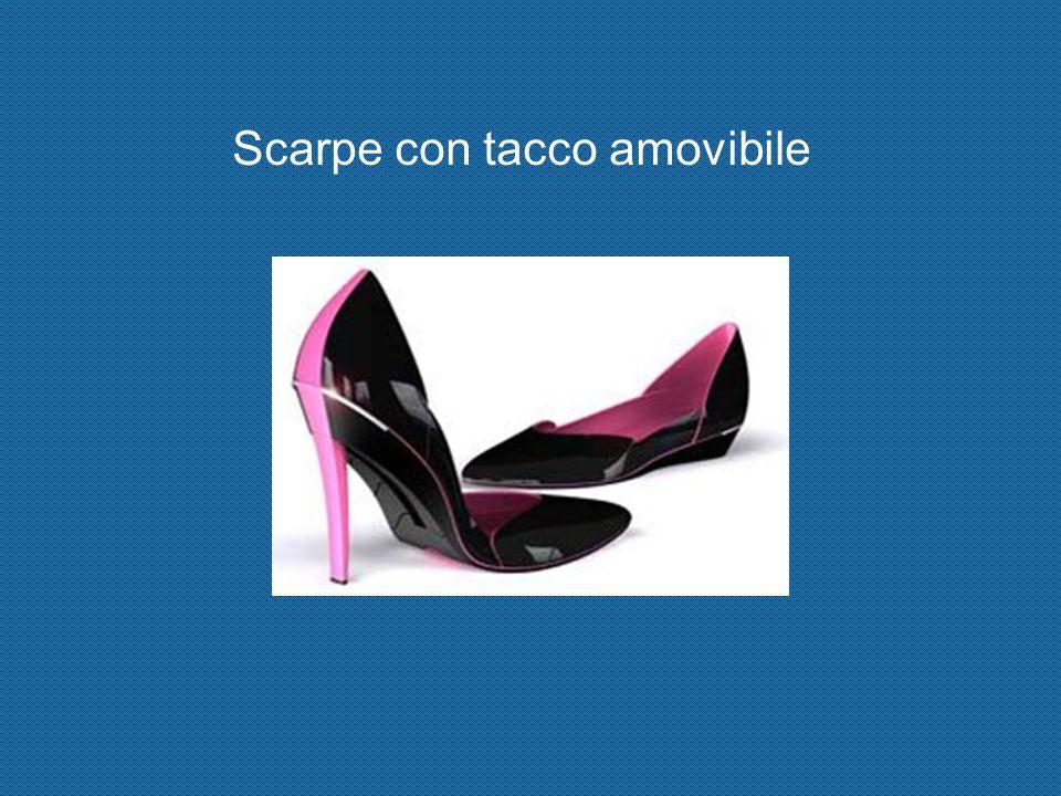 Scarpe con tacco amovibile