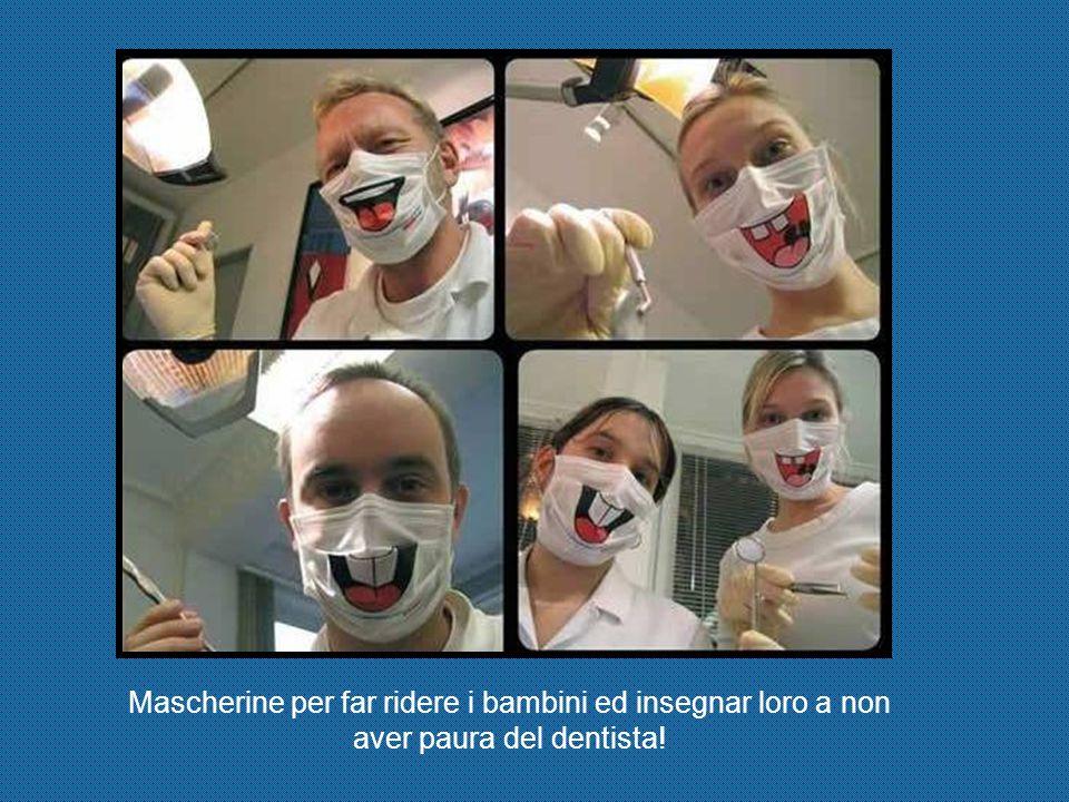 Mascherine per far ridere i bambini ed insegnar loro a non aver paura del dentista!