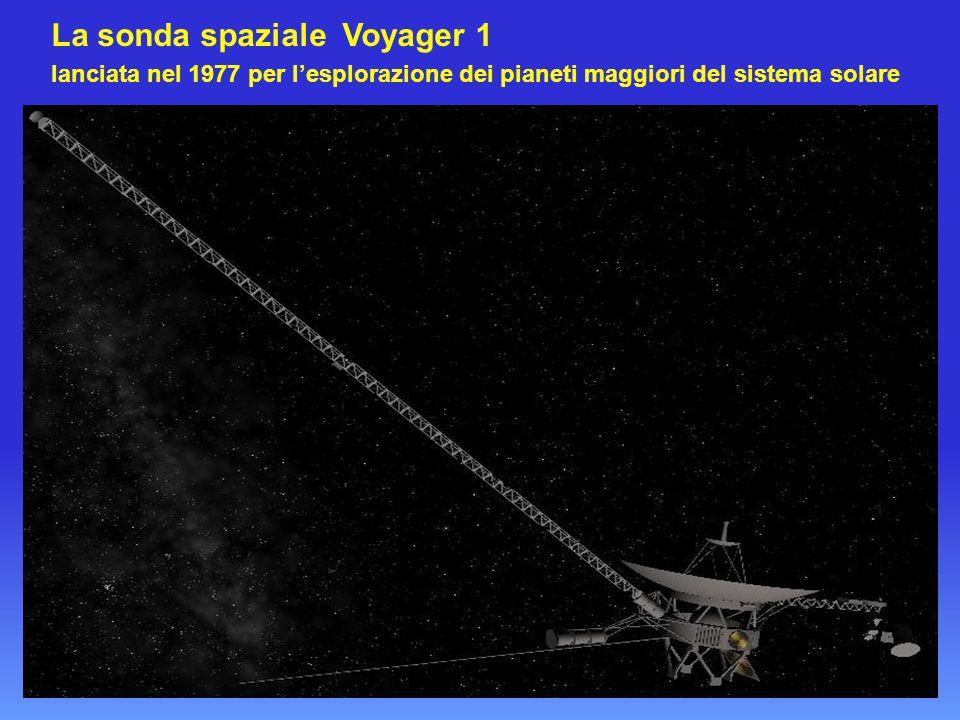 La sonda spaziale Voyager 1 lanciata nel 1977 per l'esplorazione dei pianeti maggiori del sistema solare