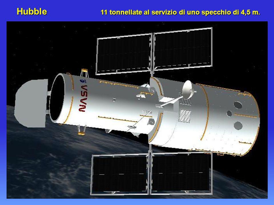 Hubble 11 tonnellate al servizio di uno specchio di 4,5 m.