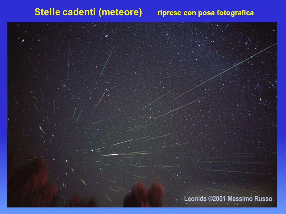 Stelle cadenti (meteore) riprese con posa fotografica