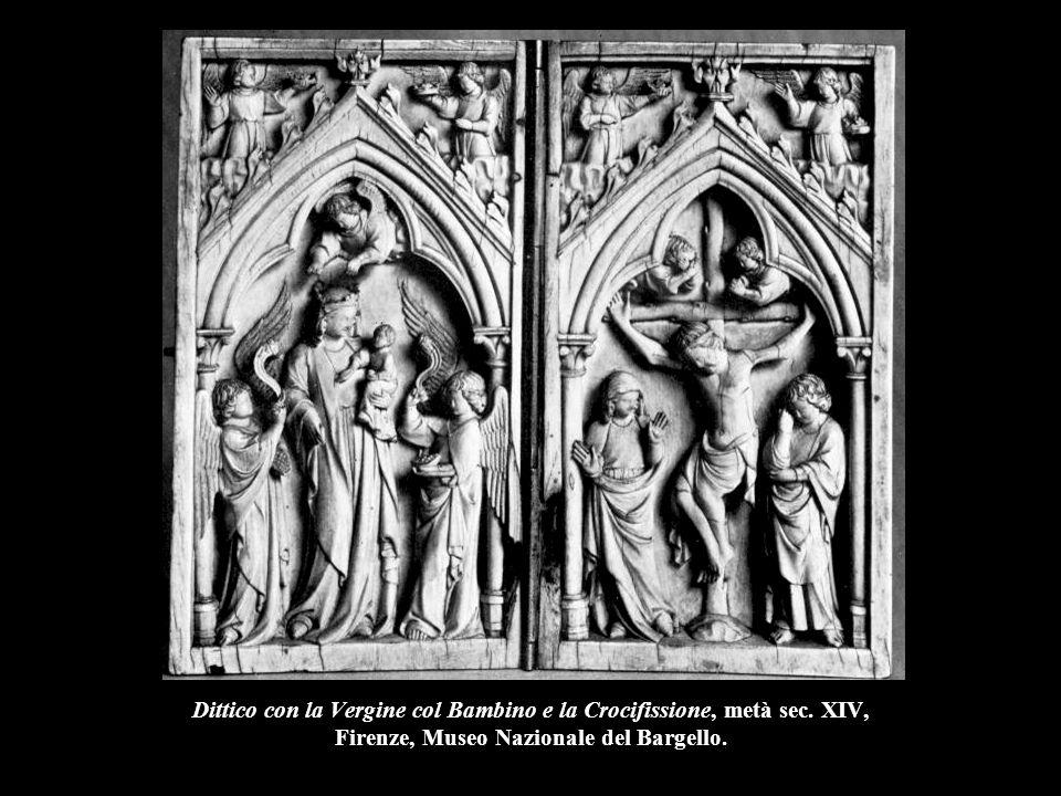 Trittico con la Vergine in gloria, l'incoronazione della Vergine e scene dell'infanzia di Cristo, metà sec.