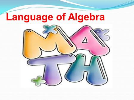 Language of Algebra.