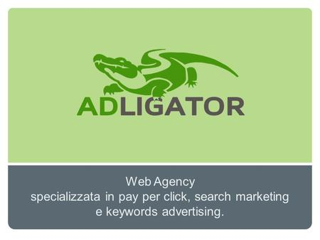 Web Agency specializzata in pay per click, search marketing e keywords advertising.