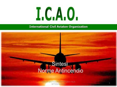 International Civil Aviaton Organization 1 UFFICIO ISPETTIVO AEROPORTUALE ITALIA SETTENTRIONALE.