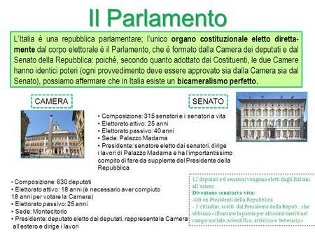 Parlamento come composto viva la scuola for Parlamento italiano schema