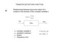 relationship between input and output variables