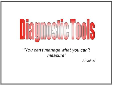 """You can't manage what you can't measure"" Anonimo."