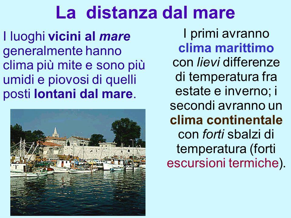 Durante la notte (e durante l'inverno) il mare - che si raffredda più lentamente del terreno - cede calore alla terraferma e addolcisce così il clima.