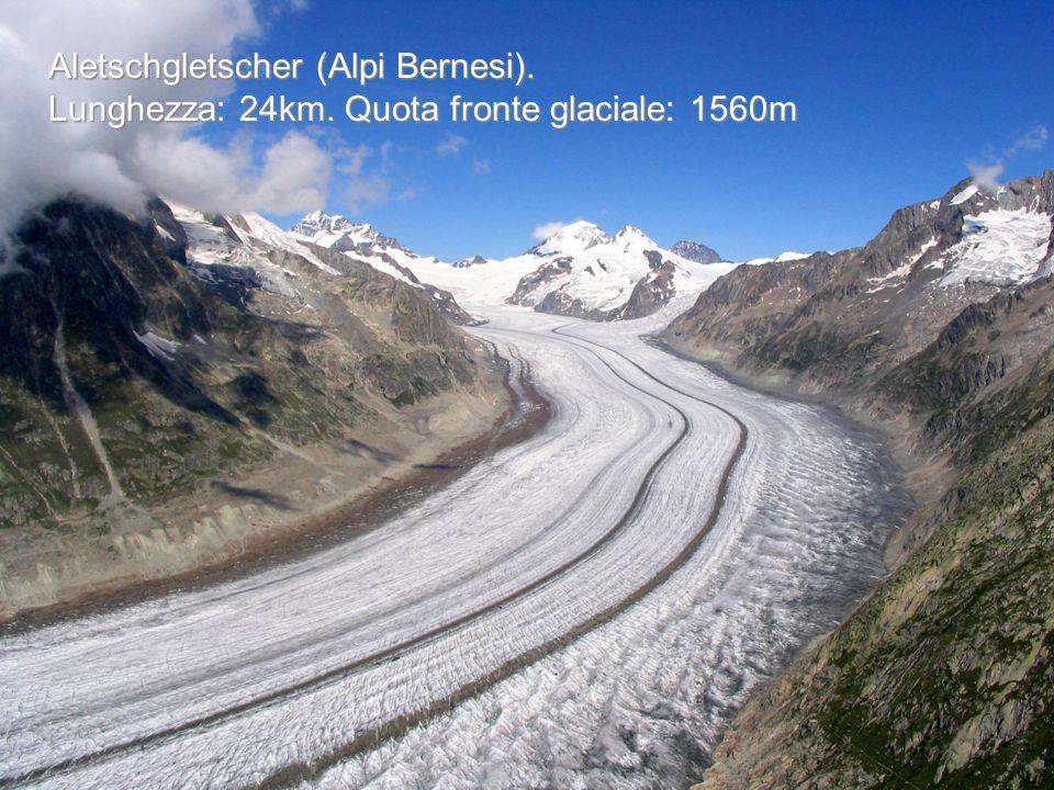 Alta montagna I ghiacciai sono spesso solcati da profondi e mutevoli crepacci.